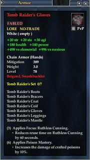 Tomb Raider's Gloves