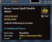 Focus- Lesser Spell Double Attack