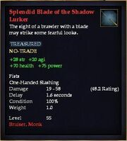 Splendid Blade of the Shadow Lurker