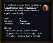 Steamfont Geyser Energy Drink