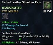 Etched Leather Shoulder Pads
