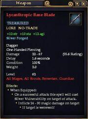 Lycanthropic Bane Blade