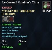 Ice Covered Gambler's Chips