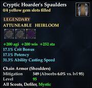 Cryptic Hoarder's Spaulders