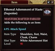 Ethereal Adornment of Haste (Superior)