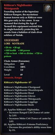 Kithicor's Nighthunter Wristguards