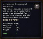 Qeynos guard ceremonial breastplate