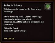 Scales in Balance