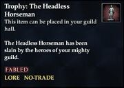 Trophy The Headless Horseman