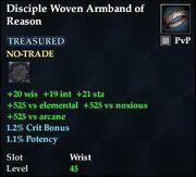 Disciple Woven Armband of Reason