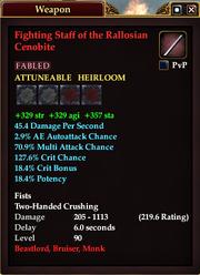 Fighting Staff of the Rallosian Cenobite