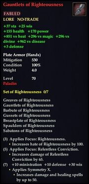 Gauntlets of Righteousness