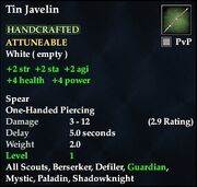 Tin Javelin