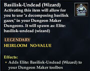 Basilisk-Undead (Wizard)