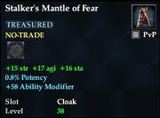 Stalker's Mantle of Fear