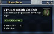 A pristine generic elm chair