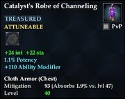 Catalyst's Robe of Channeling