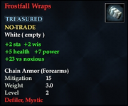 Frostfall Wraps