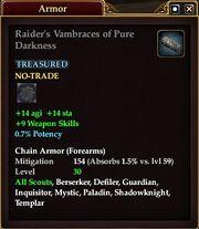 Raider's Vambraces of Pure Darkness