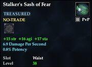 Stalker's Sash of Fear
