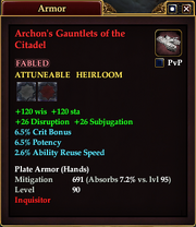 Archon's Gauntlets of the Citadel