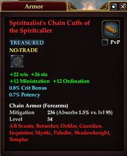 Spiritualist's Chain Cuffs of the Spiritcaller