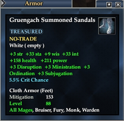 Gruengach Summoned Sandals