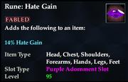 Rune- Hate Gain