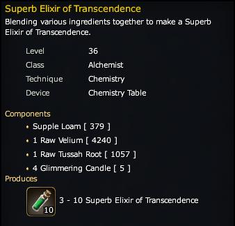 Superb Elixir of Transcendence Recipe