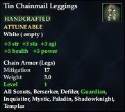 Tin Chainmail Leggings