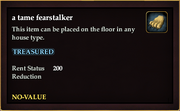 A tame fearstalker