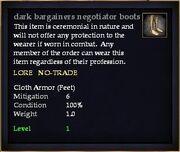 Dark bargainers negotiator boots