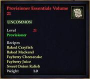 Provisioner Essentials Volume 21