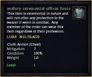 Seafury ceremonial officer tunic