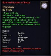 Ethereal Buckler of Bylze