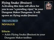 Flying Snake (Bruiser)