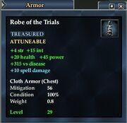 Robe trials