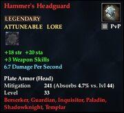 Hammer's Headguard