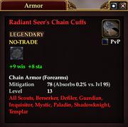 Radiant Seer's Chain Cuffs