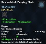 Butcherblock Parrying Blade