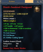 Druid's Sundered Chestguard