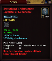 Executioner's Adamantine Legplates of Dominance