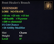 Frost Healer's Brooch