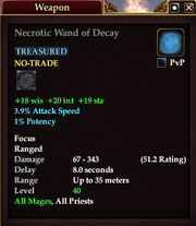 Necrotic Wand of Decay