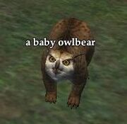 Pet baby owlbear