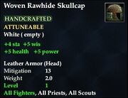 Woven Rawhide Skullcap