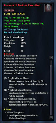 Greaves of Furious Execution