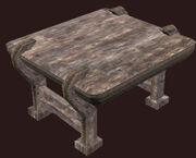 Small Alder Militia Table Placed