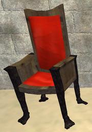 A pristine sturdy alder chair (Visible)