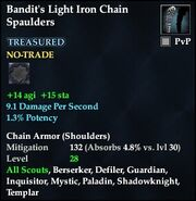Bandit's Light Iron Chain Spaulders